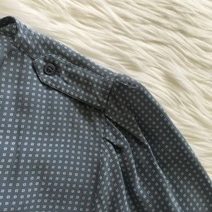 Joie Tops - [Joie] Blue Marlo Dot Silk Top